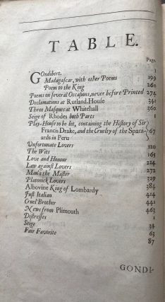 The Works of Sir William Davenant Kt, Consisting of those which were formerly Printed, and those which he design'd for the Press: Now Published out of the Authors Originall Copies.